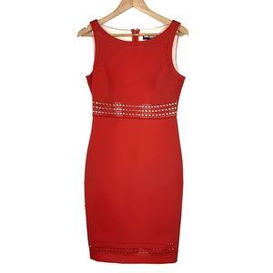 Karl Lagerfeld Paris Red Laser Cut Dress Size 8